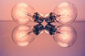 four lightbulbs
