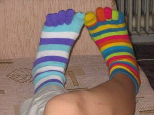 mismatched socks