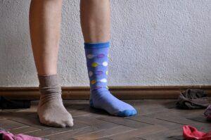 mis-matched socks