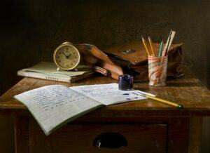 writing tools on a desk