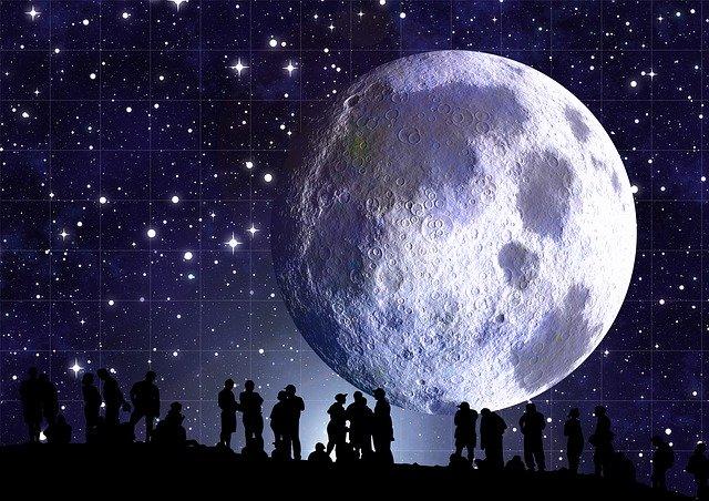 universe / large moon