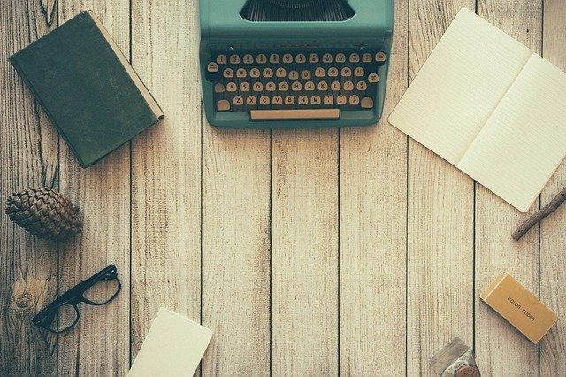 Typewriter and workspace
